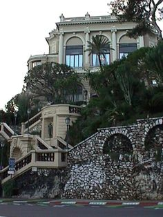 Monaco Monte Carlo famous steps by Grand Prix Hairpin Bend. #Monaco