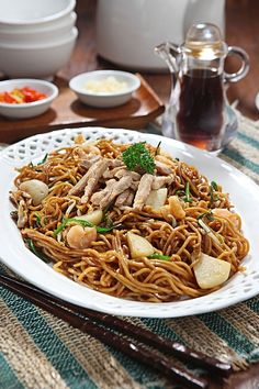 noodle ala rest angke no 1 di indonesia and this is my chinese new year eve dish
