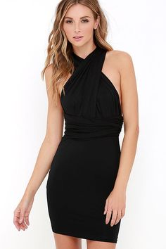 Right of Way Convertible Black Dress at Lulus.com!