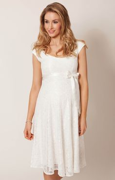 8640b68ed0 Eliza Maternity Wedding Dress Short (Ivory) by Tiffany Rose