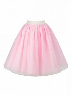 25ec72138c7 Shop Pink High Waist Tulle Mesh Skater Skirt from choies.com .Free shipping  Worldwide. 26.09