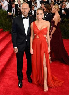 Derek Jeter and Hannah Davis in J. Mendel