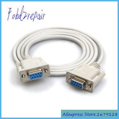 Fobd2repair RS232 DB9P Female to Female PC Converter Extension Cable DB9P F F Serial Connector DB9 Pin F/F Extension Cable