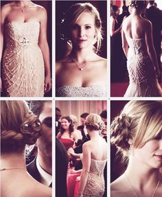 """""""I want to look hot. Like Princess Grace of Monaco hot."""" Not bad, Klaus. Caroline was definitely the best dressed girl there. Stefan And Caroline, Caroline Forbes, Vampire Diaries Cast, Vampire Diaries The Originals, Vampire Barbie, Candice King, Candice Accola, Zach Roerig, Michael Trevino"""