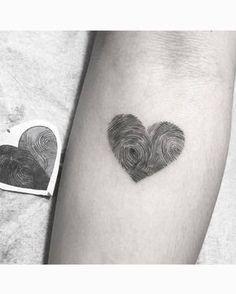 Tatuajes De Huella Dactilar Un Bonito Homenaje Y Compromiso
