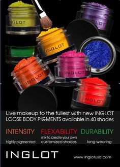 INGLOT PIGMENTs... loving these colors =) so vibrant