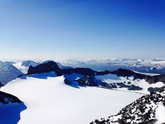 utsikten från Galdhöpiggen, Norge