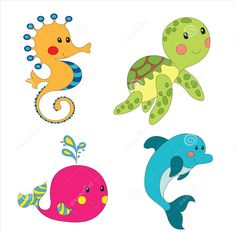 cartoon fishes vector vector graphics blog terapia y materiales rh pinterest com  marine life clipart black and white