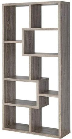 • Eight shelf bookcase finished in walnut • Constructed with MDF, particle board, and engineered veneer Dimensions:Width: 35 x Depth: 11.75 x Height: 70.5