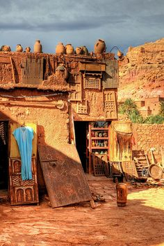 The shop around the corner in Ait Benhaddou, Morocco ~ Photo by...Manu©