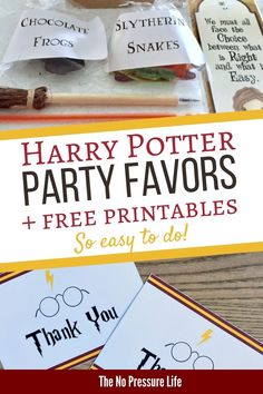 These Harry Pottery party favors are awesome for goodie bags! Little wizards will love the treats, including DIY chocolate frogs! Get a free printable thank-you note, too. Printable Thank You Notes, Free Thank You Cards, Box Template Printable, Printable Cards, Free Printables, Birthday Favors, Birthday Party Favors, Birthday Ideas, Harry Potter Treats