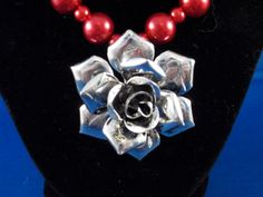 Rose Red Necklace on Etsy, $25.00