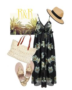 """Countdown to vacation"" by lizard-on-a-rock ❤ liked on Polyvore featuring Jack Rogers and Christys'"