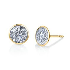 Diamond Studs — Our classic diamond studs have the thinnest rim of gold around the edge, showcasing the true beauty of the diamond. Set in your options of Go. Cute Jewelry, Jewelry Box, Jewelery, Jewelry Accessories, Fashion Accessories, Push Gifts, Gifts For My Girlfriend, Do It Yourself Jewelry, Diamond Are A Girls Best Friend