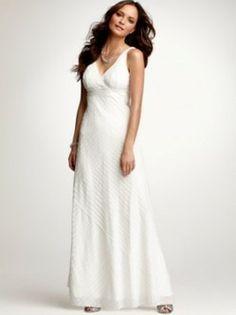 Sheath / Column Strapless Sleeveless Floor-length Chiffon Tiered Beach Wedding Dress For Brides