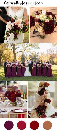 Burgundy wedding ideas for fall 2018