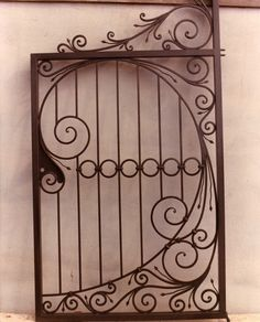 Security Screen Doors : Great Gates and Whiting Iron in . Metal Gates, Wrought Iron Fences, Wrought Iron Doors, Metal Clock, Metal Art, Gates And Railings, Iron Gate Design, Iron Windows, Iron Furniture