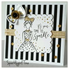 Created by Tina Boyden for Craftwork Cards using the Fabulous Fashionita collection Craftwork Cards, Arts And Crafts, Paper Crafts, Dress Card, Birthday Cards For Women, Crazy Dog, Card Making Inspiration, Flower Cards, Cardmaking