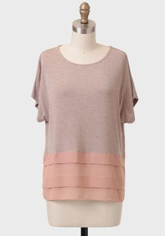 Comfy and Cute. Yes, please!  First Kiss Tiered Blouse at #Ruche @Ruche