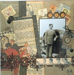 heritage scrapbook pages Type writer letters for title