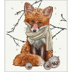 "Hey There Foxy Lady Counted Cross Stitch Kit - 12.25"" x 11.75"" 16 Count"
