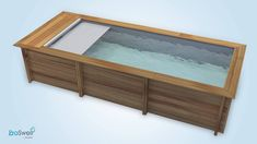 The very first swimming pool for a small garden: the Urban Pool - Innen Garten - Eng Natural Swimming Pools, Swimming Pools Backyard, Outdoor Fun, Outdoor Spaces, Kleiner Pool Design, Little Pool, Swiming Pool, Mini Pool, Timber Deck