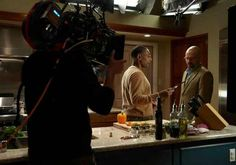 """A closer look at an intimate dinner: 35 Pictures That Will Change The Way You Look At """"Breaking Bad"""" Aaron Paul, Bryan Cranston, Walter White, Breaking Bad Cast, What Is Drama, Gang Up, Chemistry Lessons, Lighting Setups, Lighting Design"""