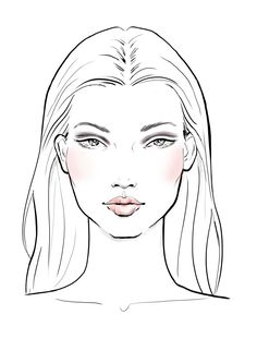 Images of makeup drawing easy - Drawing Sketches, Art Drawings, Fashion Illustration Face, Fashion Illustration Template, Makeup Drawing, Hair Sketch, Figure Sketching, Fashion Design Sketches, Face Art