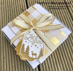 Stampin' Up! Merry Little Labels & Everyday Label Punch, Mini Pizza Box, Christmas Gifts & Packaging designed by Kathryn Mangelsdorf