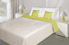 Prošívaný krémově limetkový přehoz na postel Bed, Furniture, Home Decor, Decoration Home, Stream Bed, Room Decor, Home Furnishings, Beds, Home Interior Design