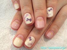 French nail straight girly ガーリーなまっすぐフレンチネイル
