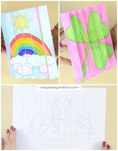 St. Patrick's Day Agamograph Template Printable Craft for Kids