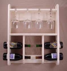Wine Rack with Wine Glass Holder  Wall Hanging  by KTsWoodshop