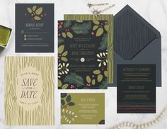 The Paper Raven Co. Wildwood Forest Suite features a striking bouquet of…