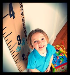 Love this handmade growth chart idea from @Dritz Sewing!