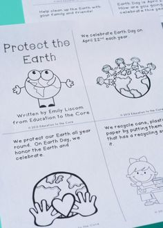 Earth Day FREEBIE Mini-Book!