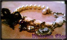 Vintage style charm bracelet by Victorian Edge Jewelry