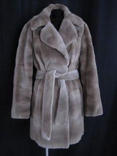 Grey Sheared Mink Coat