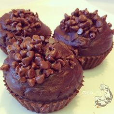 Chocolate Chip Protein Muffins Great site for protein packed muffins for the whole family!!!!