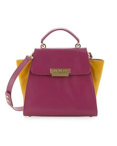 Eartha Colorblock Satchel Bag, Boysenberry/Marigold by Z SPOKE ZAC POSEN at Last Call by Neiman Marcus.