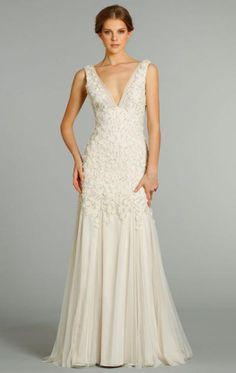 af5ae74a295a A-Line Vintage Beach Long Wedding Dress Fabric  Chiffon