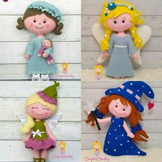 PDF patterns for felt dolls