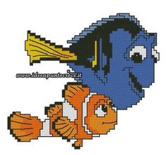 Marlin & Dory cross stitch 1-3