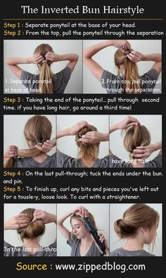 The Inverted Bun Hair Tutorial