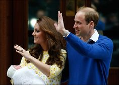 Prince William, Duchess Catherine and their new daughter, Princess Charlotte Elizabeth Diana