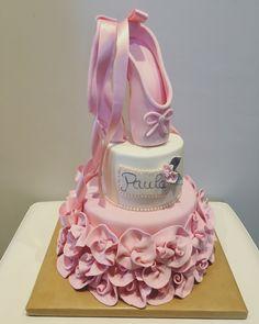 Tarta ballet fondant Facebook.com/lagordidelascupcakes