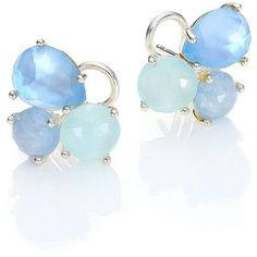 IPPOLITA Rock Candy Milky Aquamarine, Blue Topaz, Mother-Of-Pearl,... ($1,165) ❤ liked on Polyvore featuring jewelry, earrings, apparel & accessories, aquamarine jewelry, mother of pearl stud earrings, stud earrings, aquamarine stud earrings and blue topaz jewelry