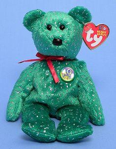 Decade (green) - Bear - Ty Beanie Babies