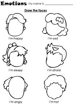 Teach feelings - Kindergarten Coloring Pages and Worksheets Kindergarten Coloring Pages, Preschool Worksheets, Esl Worksheets For Beginners, Preschool Charts, Kindergarten Colors, Kindergarten Readiness, Letter Worksheets, Worksheets For Kids, Printable Worksheets