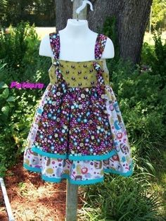 Brooke Knot Apron DressSewing PatternPDF eBook by foofooandmore, $8.00
